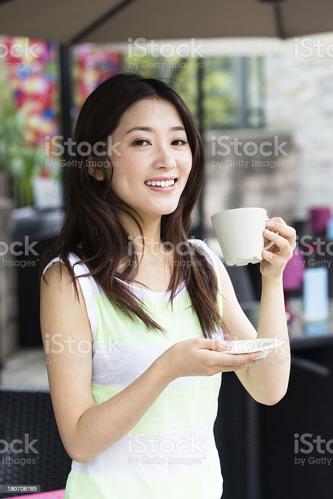 coffee girl stock photo