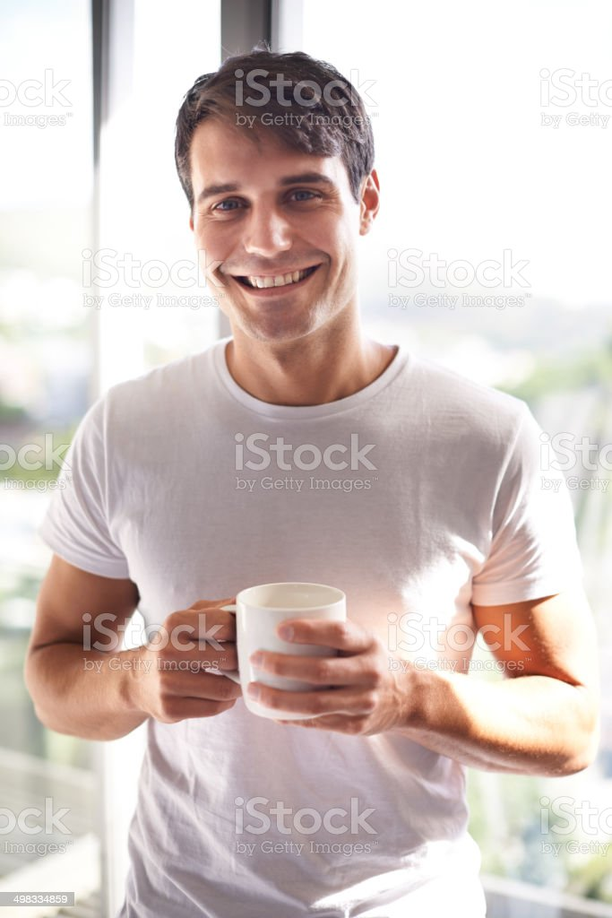 Coffee gives you that kickstart to your day stock photo