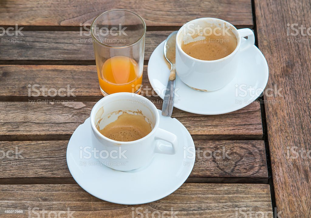 coffee glass on table royalty-free stock photo