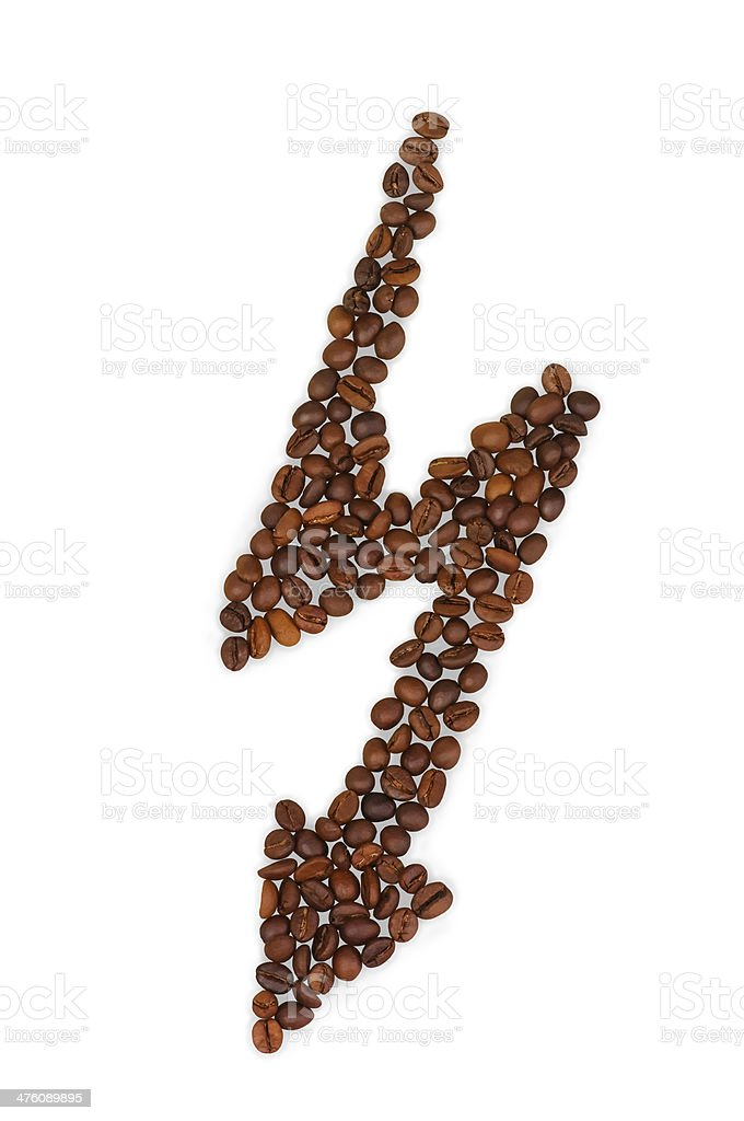 coffee grains in the shape of arrow royalty-free stock photo