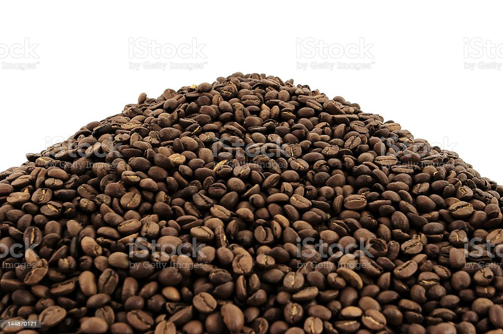 Coffee grains royalty-free stock photo