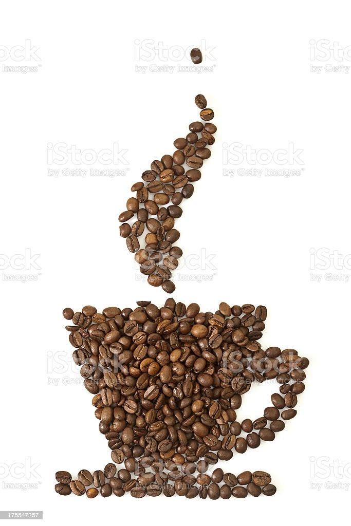 Coffee grains royalty-free stock photo