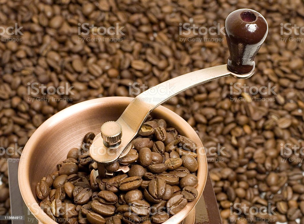 Coffee Grinder top royalty-free stock photo