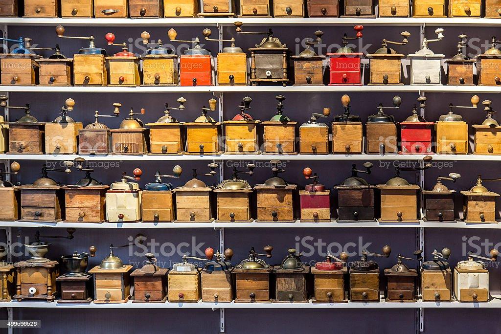 coffee grinders stock photo