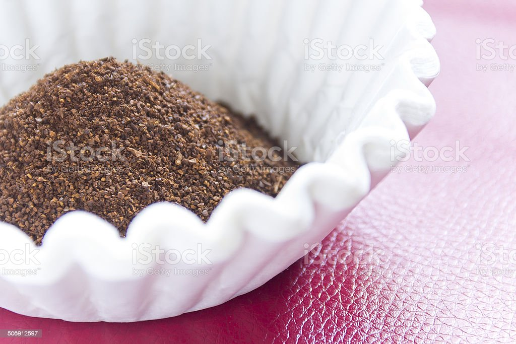 Coffee Grounds Filter stock photo