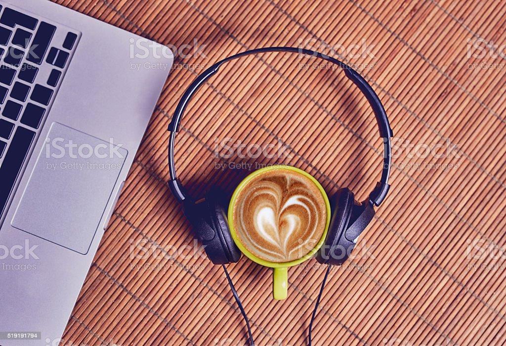 coffee heart foam stock photo