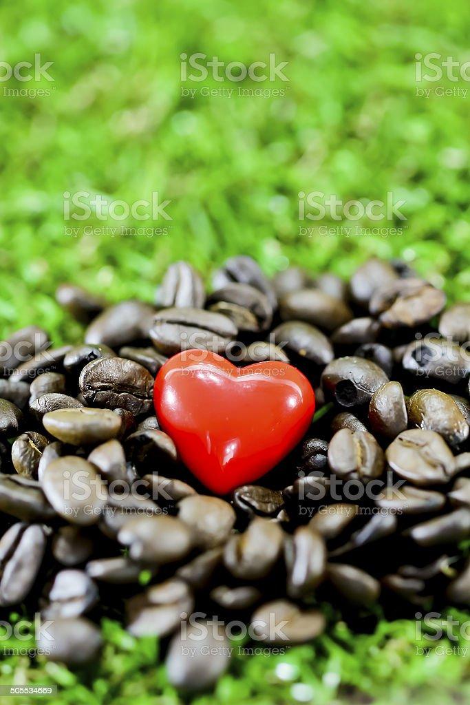 coffee heart royalty-free stock photo