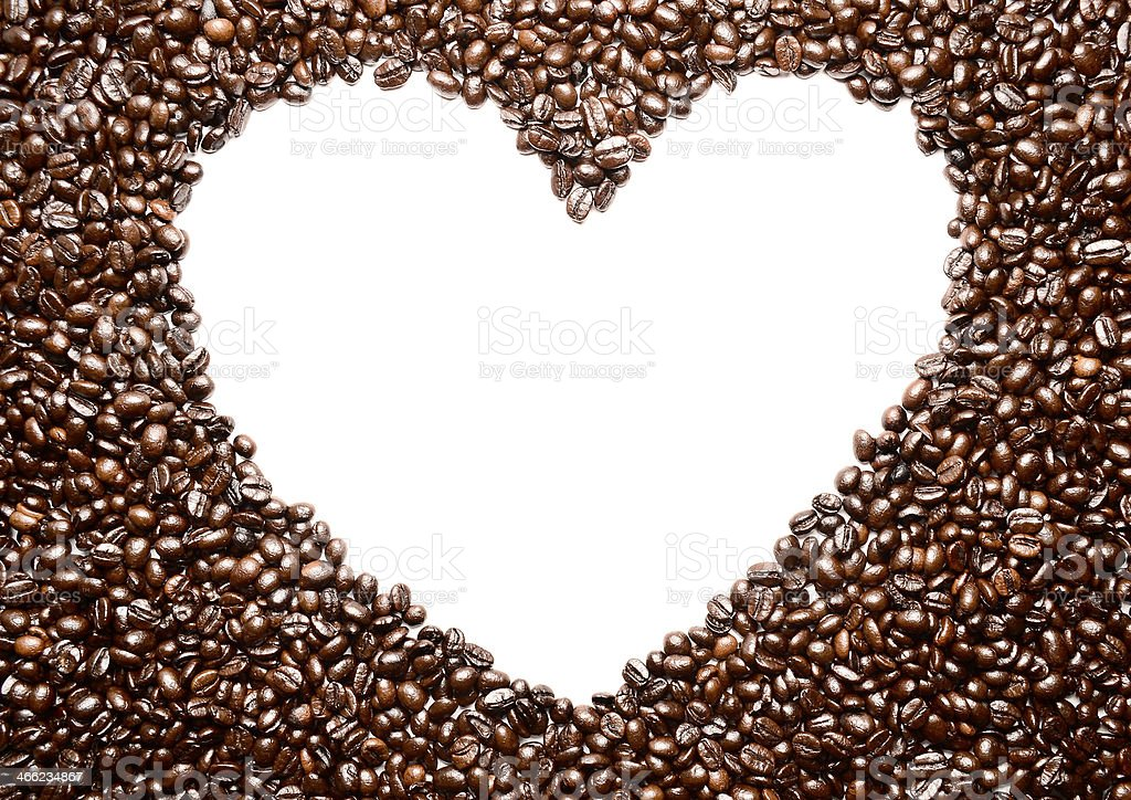Coffee heart shaped royalty-free stock photo