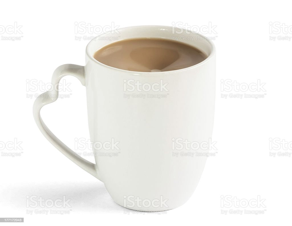 Coffee heart white cup royalty-free stock photo