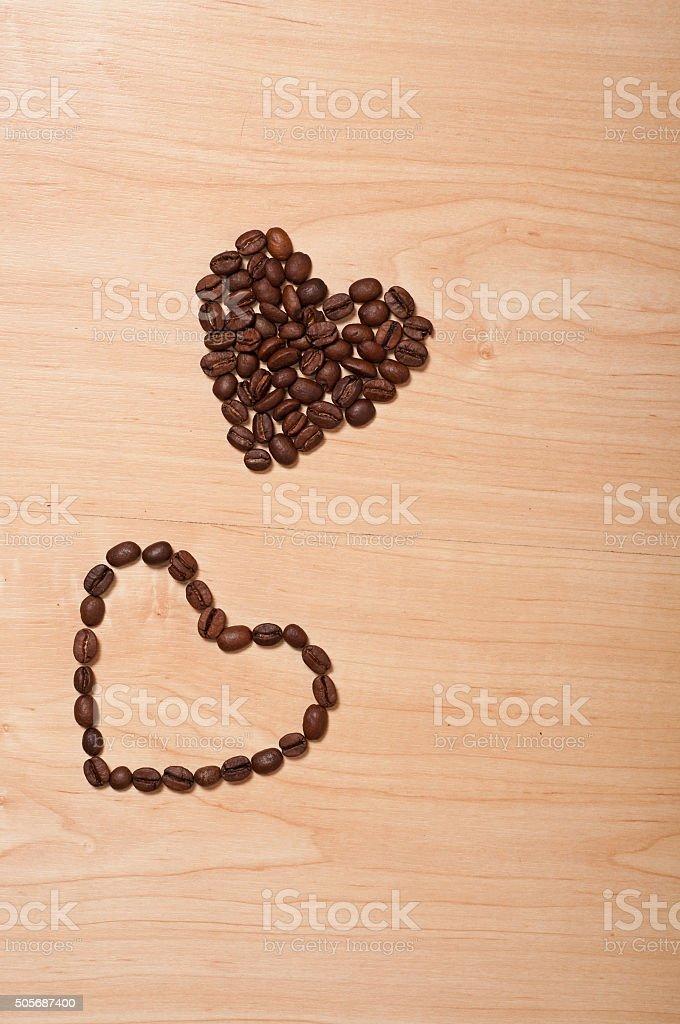 coffee hearts stock photo