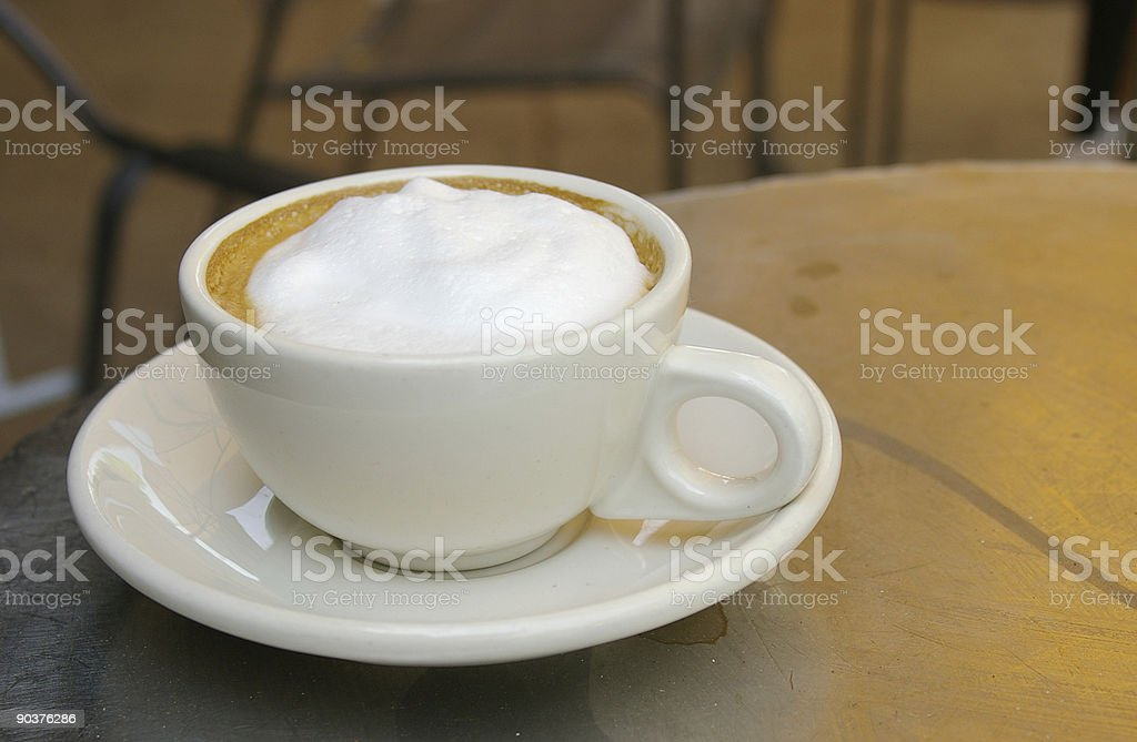 Coffee in a cafe royalty-free stock photo