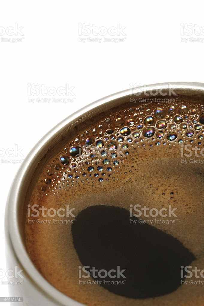 Coffee in a metal cup royalty-free stock photo