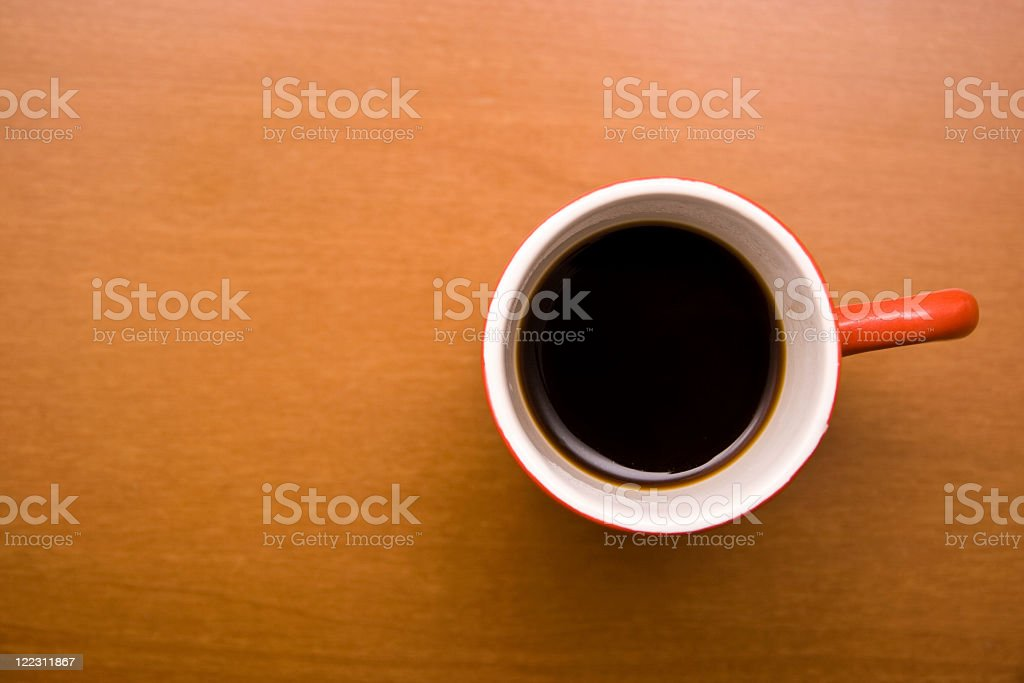 Coffee in a red cup royalty-free stock photo