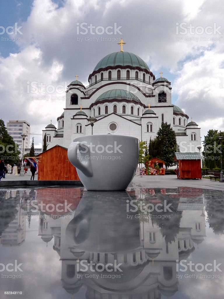 Coffee in Belgrade stock photo