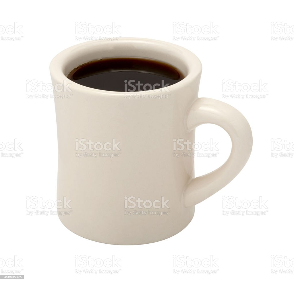 Coffee in Classic White Diner Cup stock photo