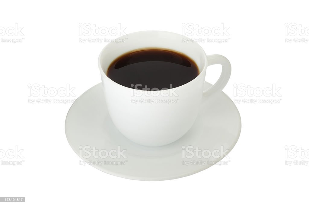 Coffee in cup isolated stock photo