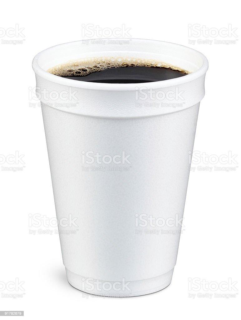 Coffee in Foam Cup stock photo