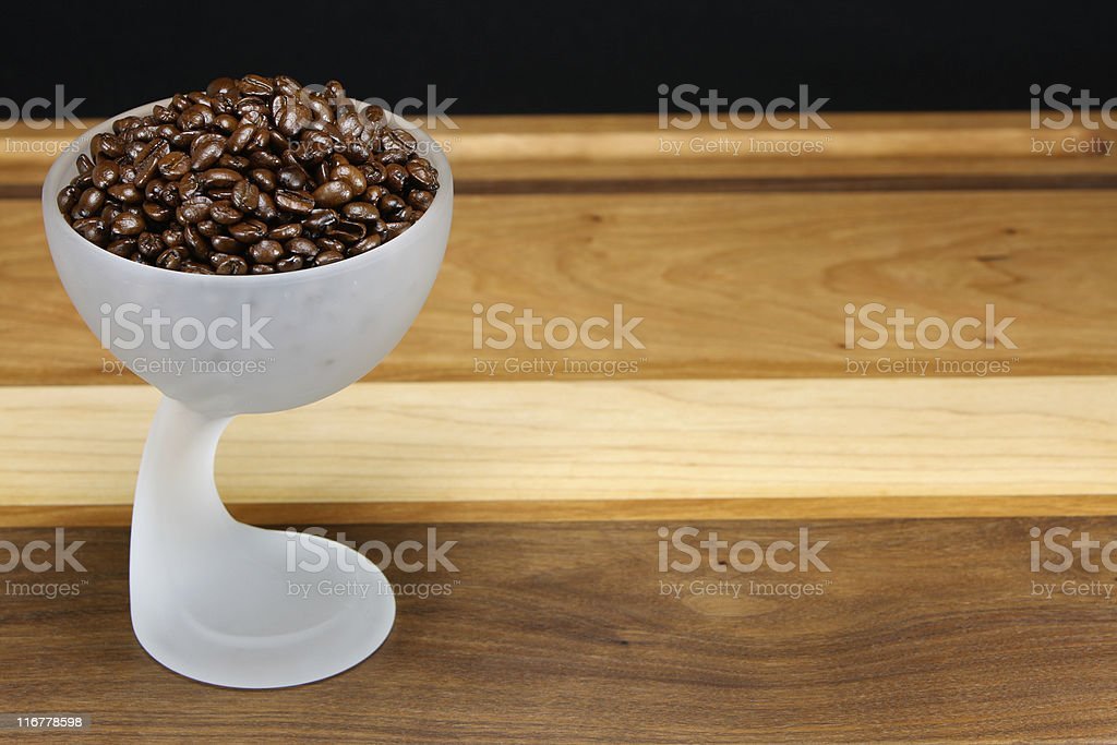 Coffee in Goblet stock photo