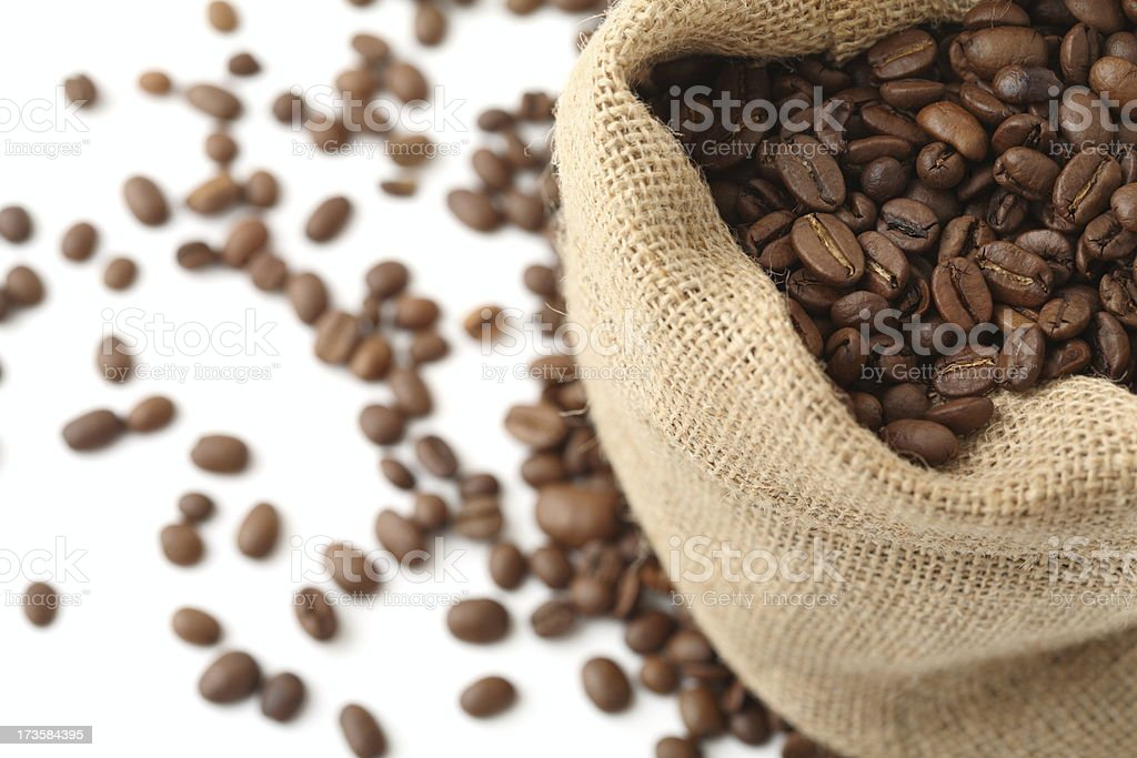 Coffee in Sack royalty-free stock photo