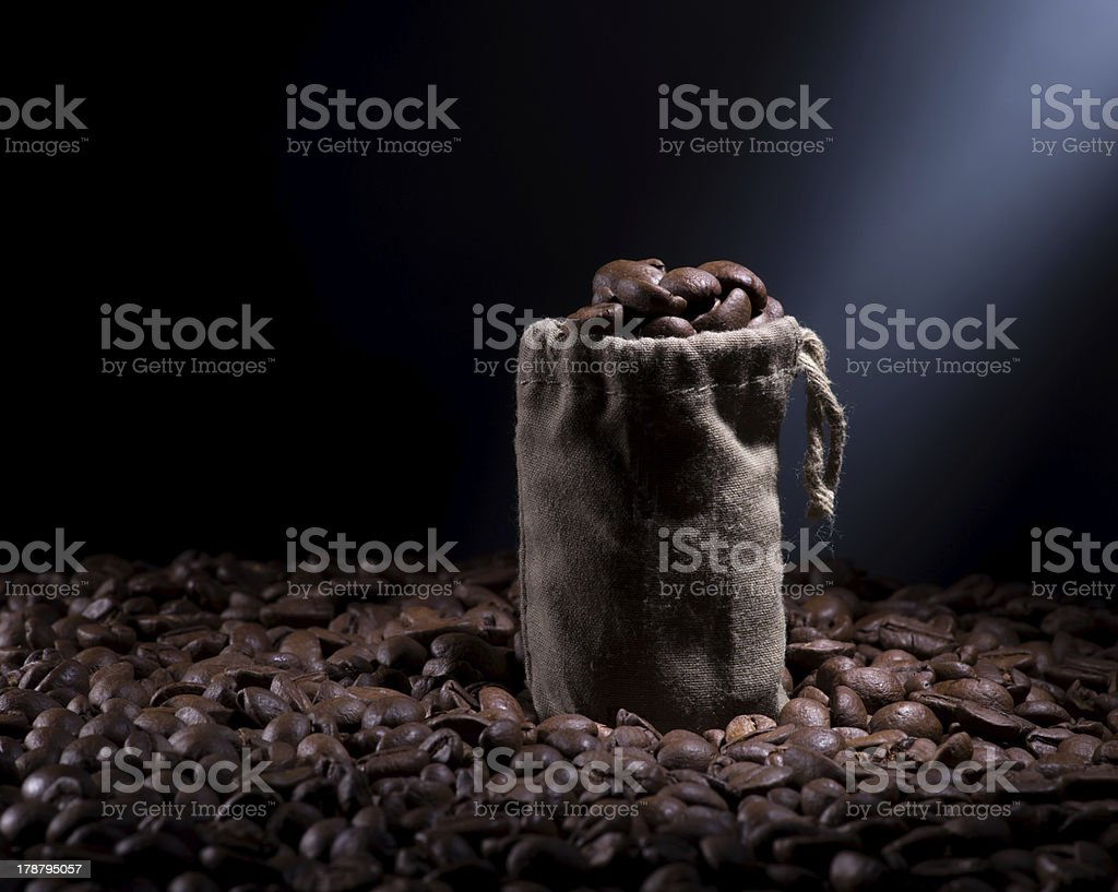 Coffee in the bag royalty-free stock photo
