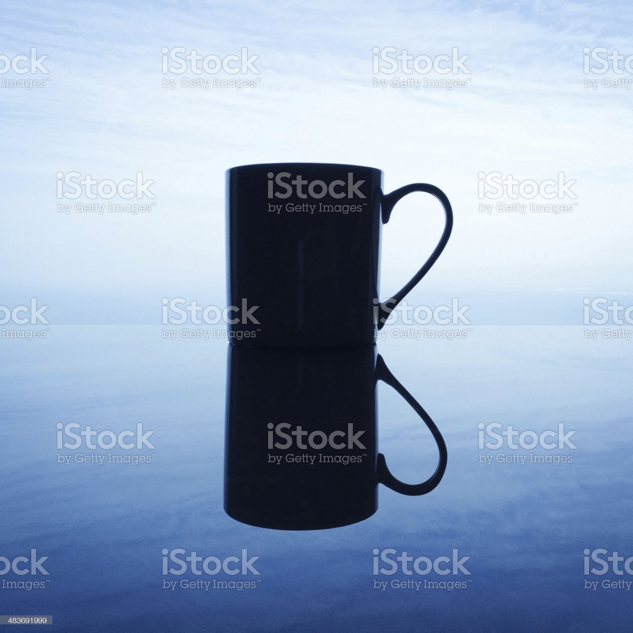 Coffee in the clouds royalty-free stock photo