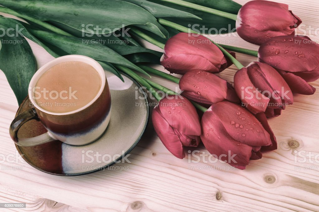 Coffee in vintage style stock photo
