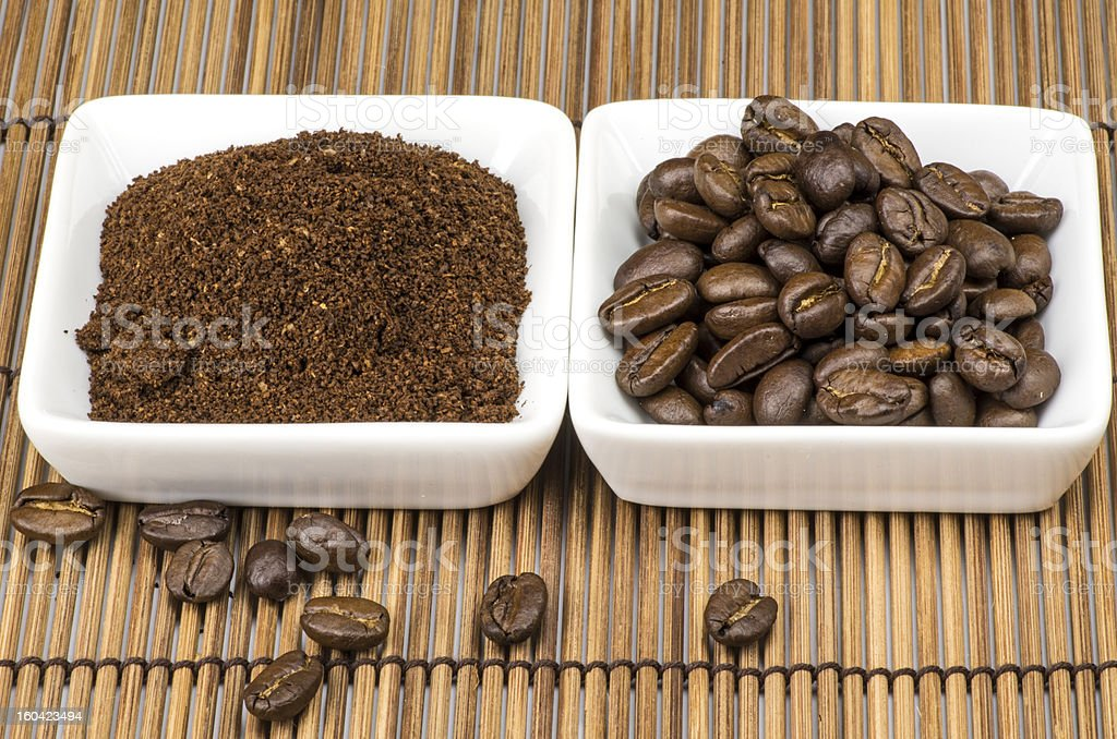 Coffee in white bowls royalty-free stock photo