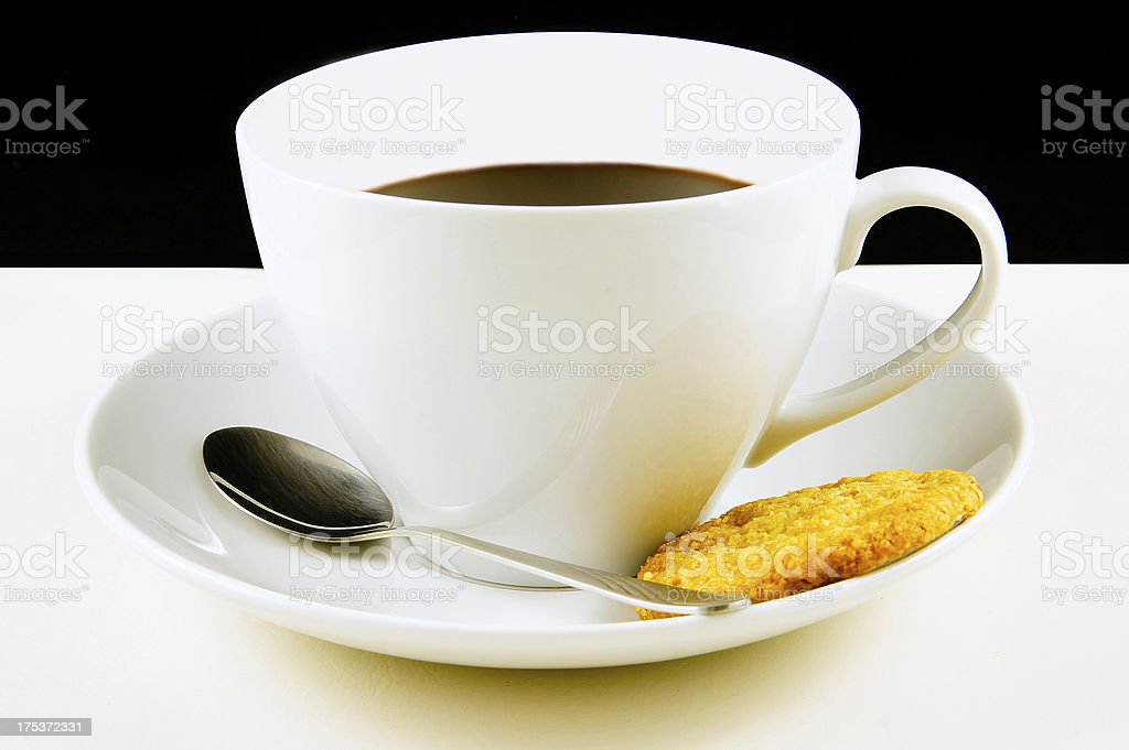 Coffee in white cup royalty-free stock photo