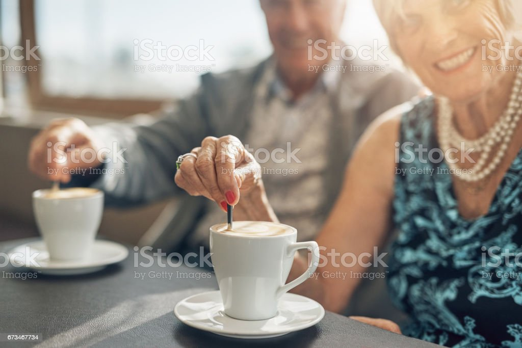 Coffee is a brew best shared stock photo