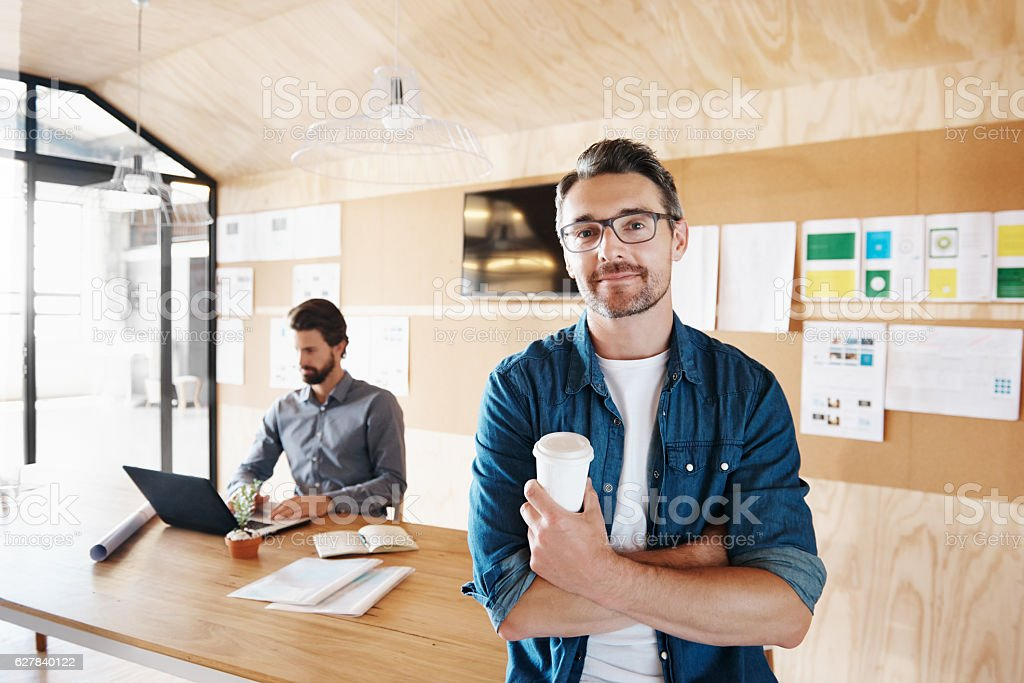 Coffee is all I need stock photo