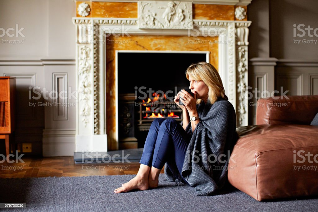 Coffee is the key to comfort stock photo