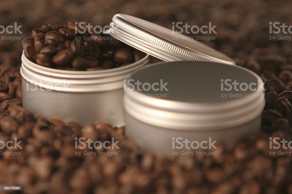 Coffee jars royalty-free stock photo