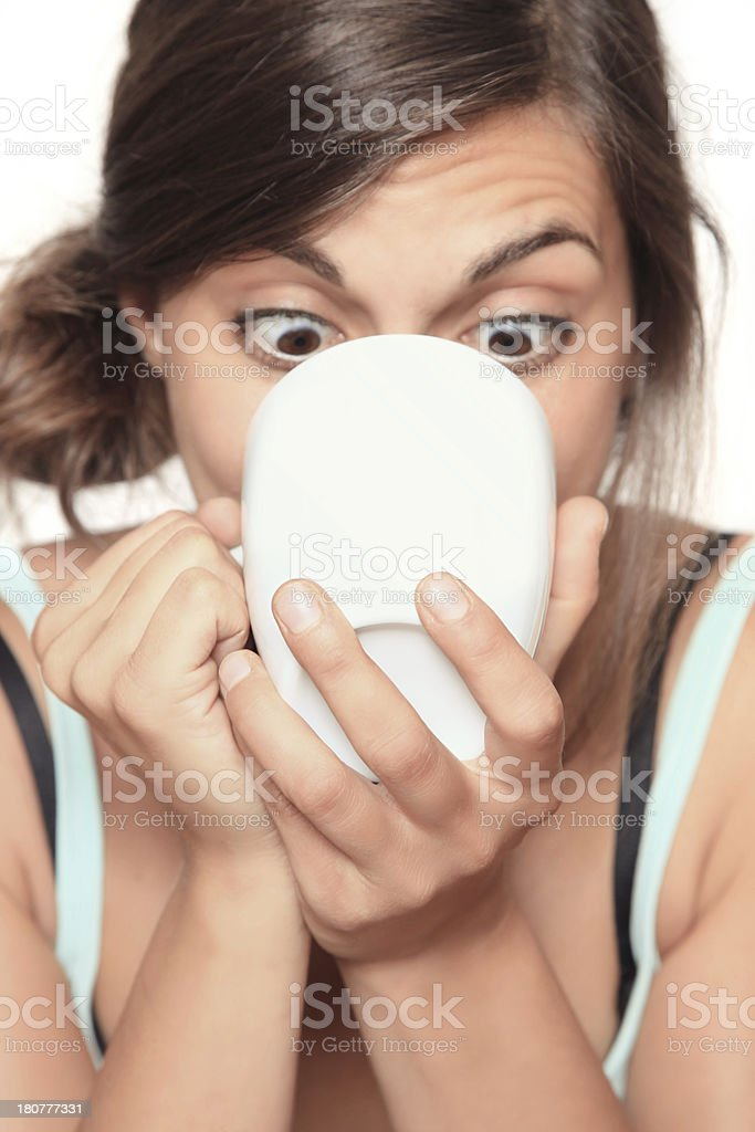 coffee junkie stock photo