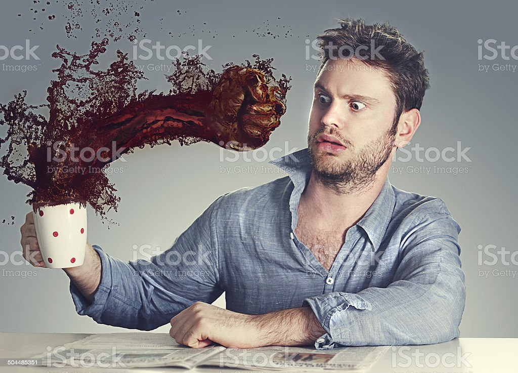 coffee knock out stock photo