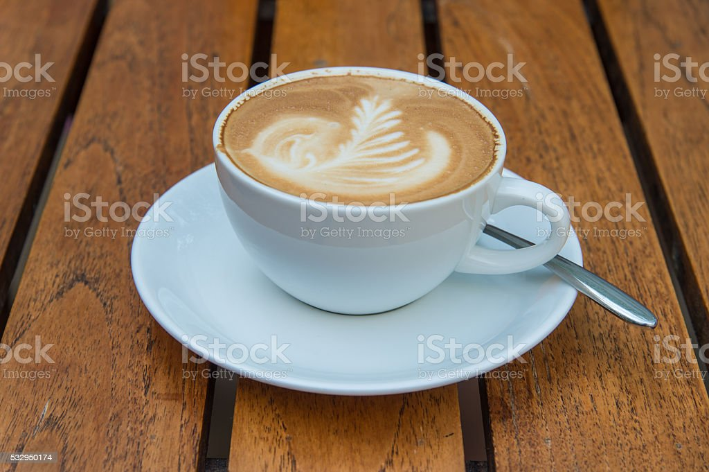 coffee latte art stock photo