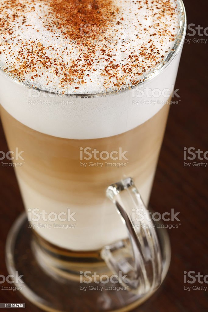 Coffee Latte in a glass royalty-free stock photo
