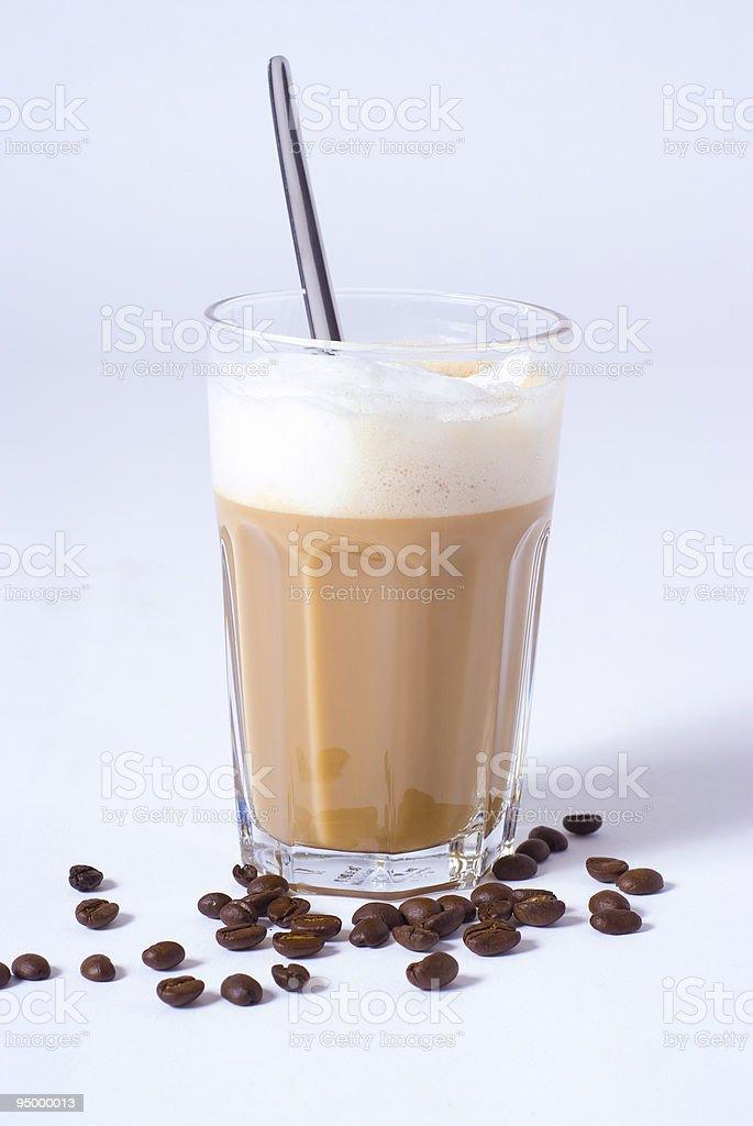 Coffee latte macchiato royalty-free stock photo
