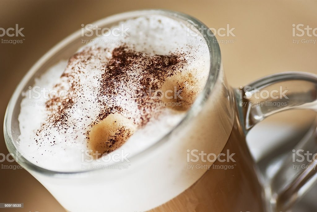 coffee latte machiatto royalty-free stock photo
