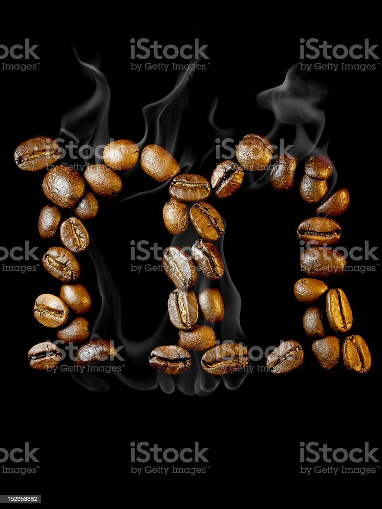 Coffee letter royalty-free stock photo