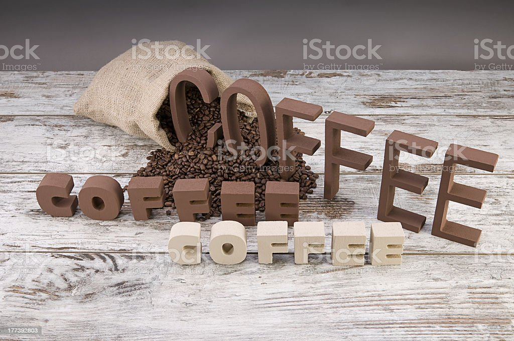 Coffee Letters with Space royalty-free stock photo