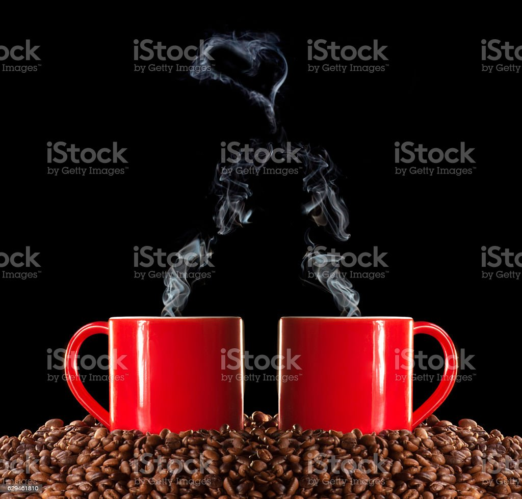 Coffee Love and Online Dating stock photo