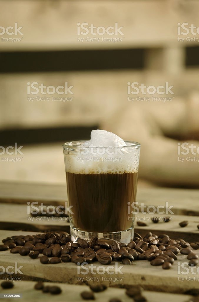Coffee macchiato royalty-free stock photo
