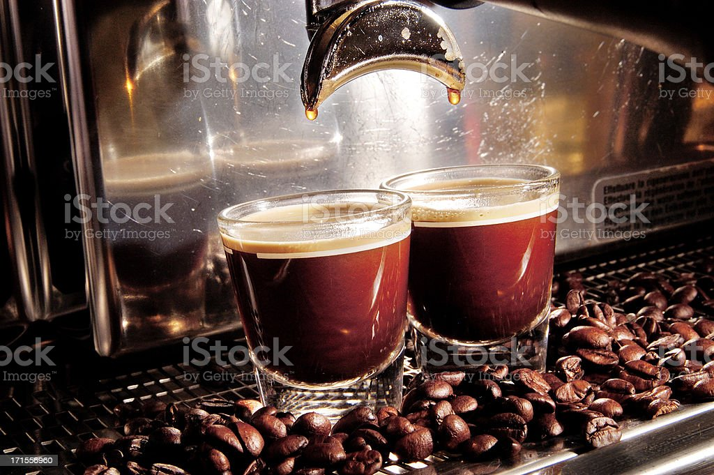 Coffee Machine Filling Expresso royalty-free stock photo