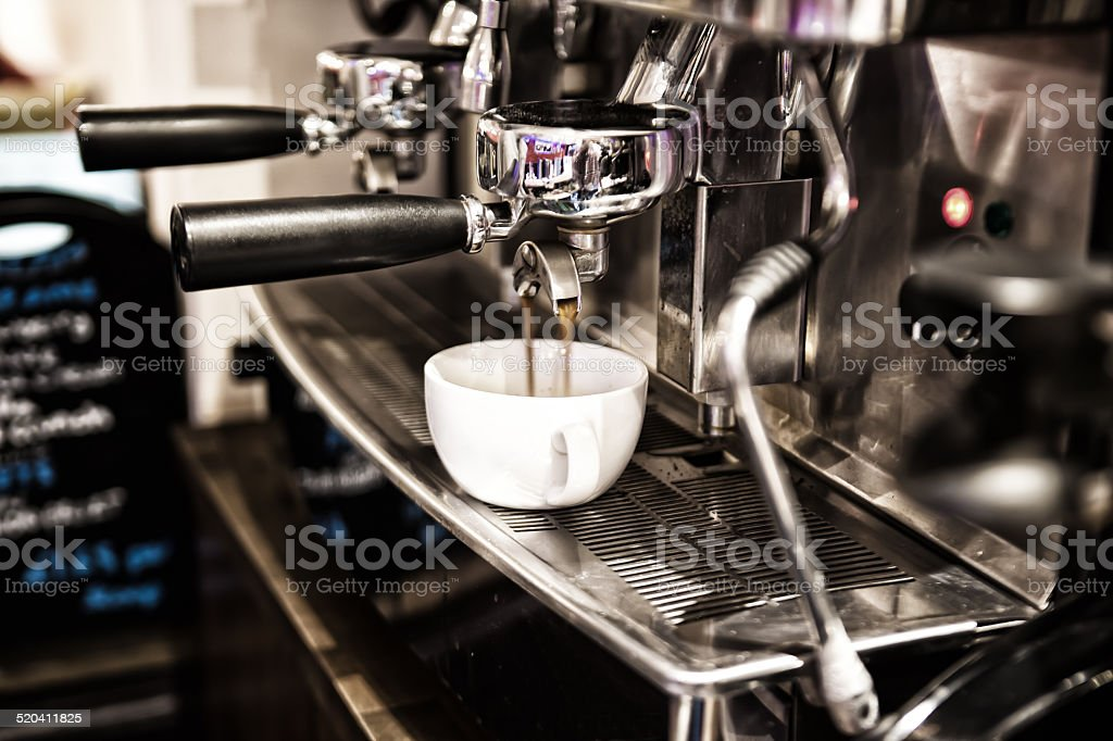 Coffee Machine In Cafe stock photo