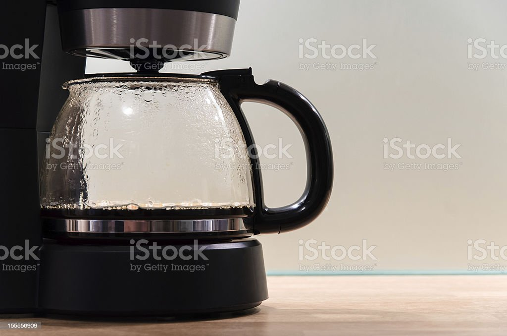 Coffee machine with large copy space stock photo