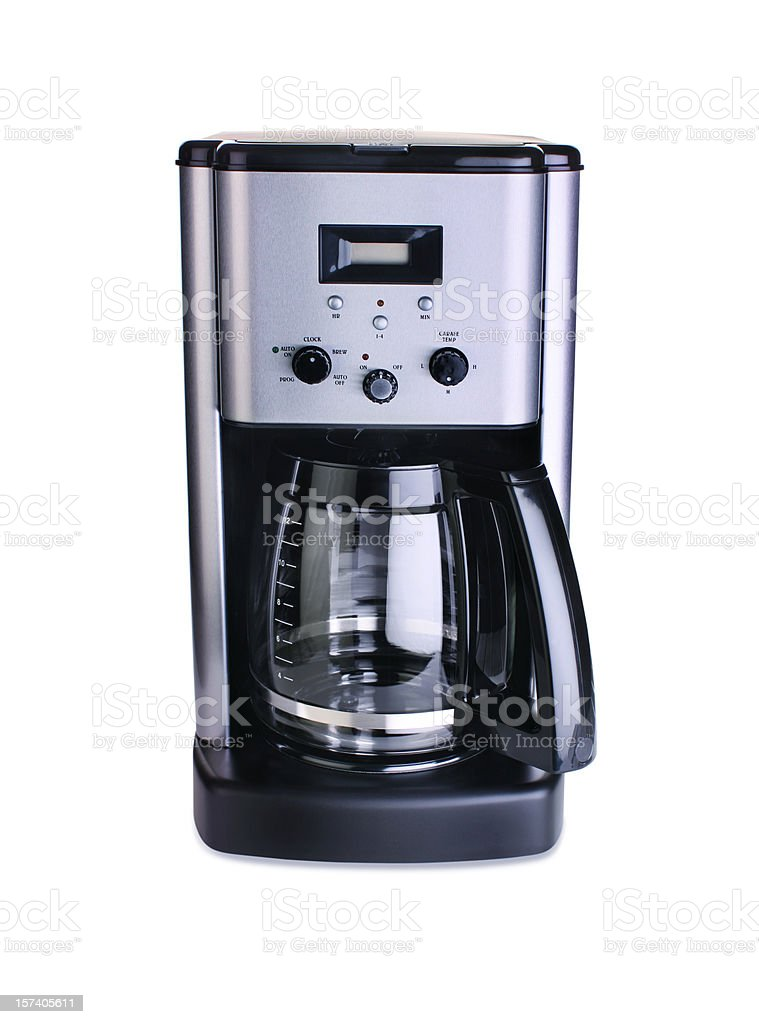 Coffee Maker Isolated on White stock photo
