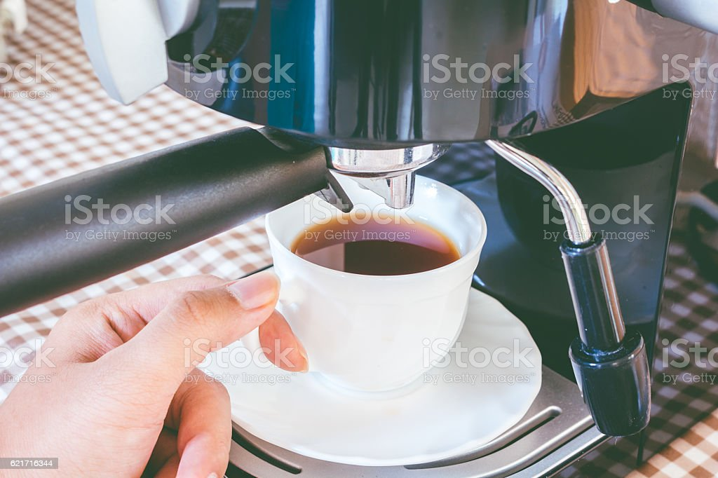 Coffee maker machine stock photo