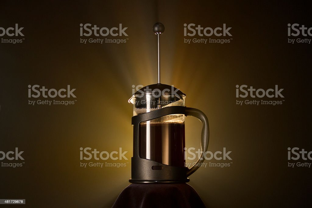 Cafetiere Coffee Heaven stock photo