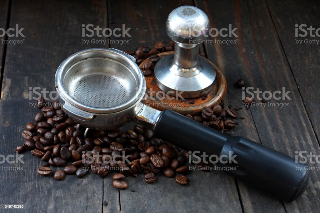 coffee making tools stock photo