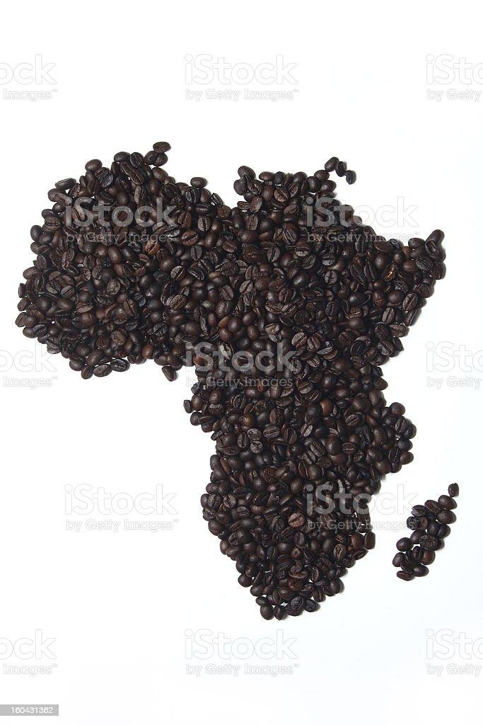 Coffee Map stock photo